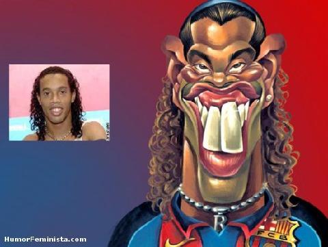 Caricatura de Ronaldinho por Jonathan