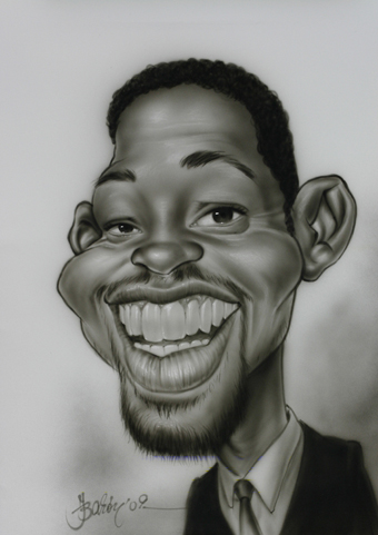 CARICATURA DE WILL SMITH POR VIRGINIA