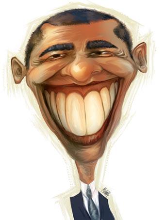 Caricatura Barack Obama